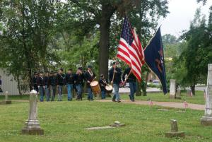 Civil Reenactment at Woodlawn Cemetery