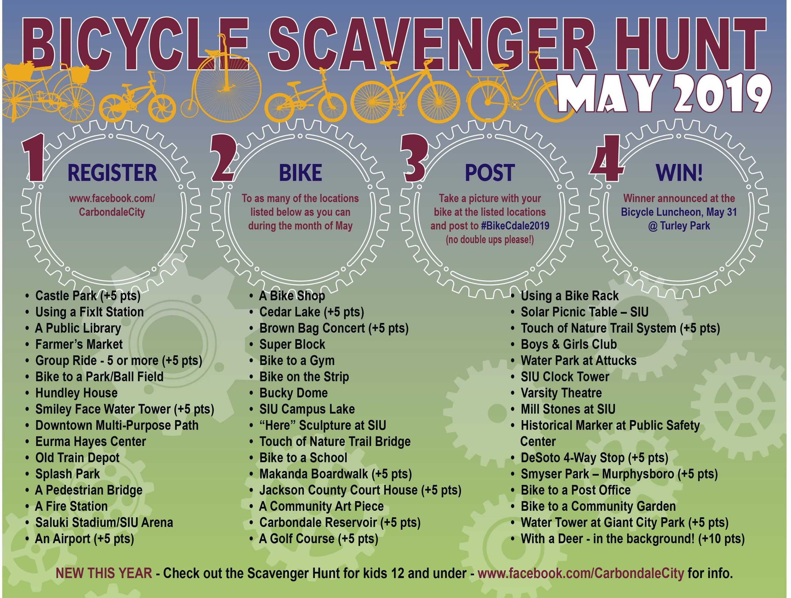 2019 Bike Month Scavenger Hunt